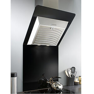 MyAppliances ART28201 60cm Black Angled Glass Cooker Hood Extractor + Splashback