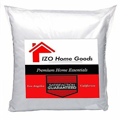 IZO- Euro Square Pillow Insert Pillow Forms Insert - ALL SIZES!! Made in USA ()