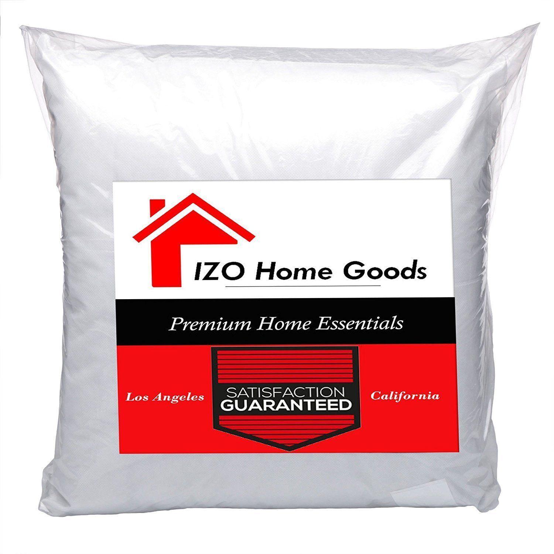 IZO- Euro Square Pillow Insert Pillow Forms Insert - ALL SIZ