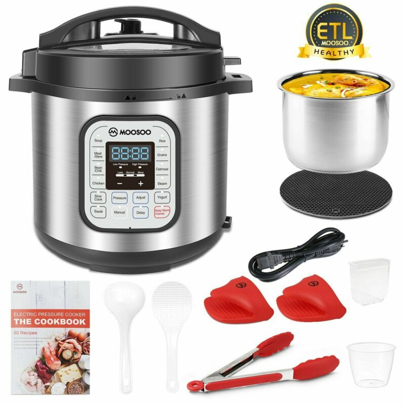 12-in-1 Electric Pressure Cooker 6 Quart rice Cooker Slow Cooker , Multi-Use