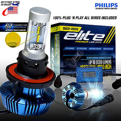 LED Aftermarket Conversion Kit 6000K Bulbs 8000LM H4 H7 H11 H13 9007 9006 H1