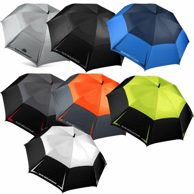 """Sun Mountain Manual Golf 68"""" Umbrella - New 2021 - Pick a Color"""