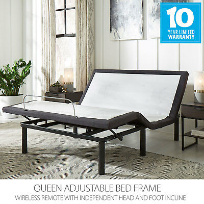 Queen Adjustable Bed Base Frame with wireless remote and whisper quiet motors ()