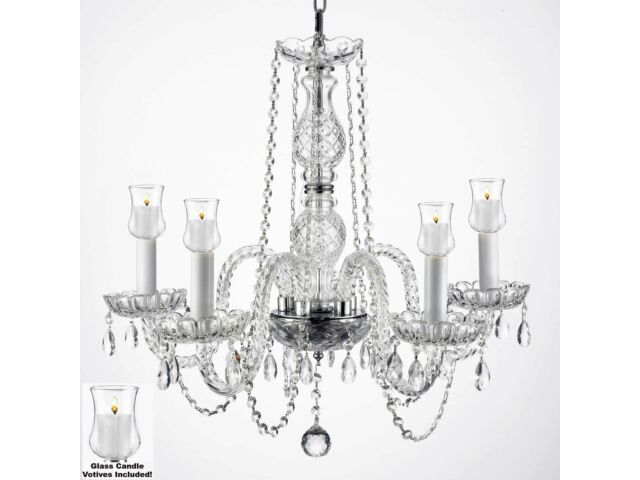 Crystal Chandelier Lighting Chandeliers W/ Candle