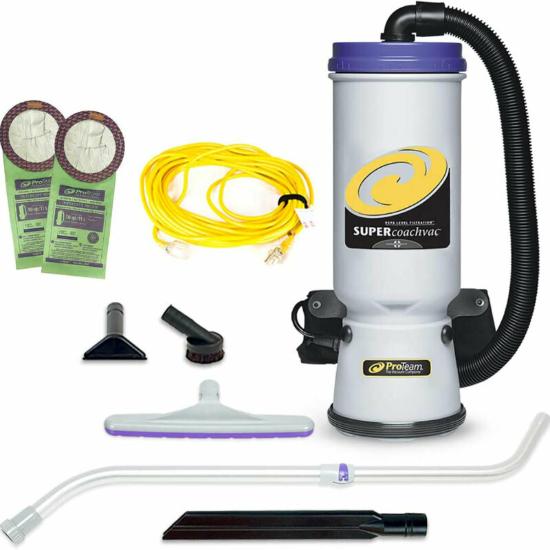 ProTeam CoachVac 10 Qt Backpack Vacuum with Telescope Wand Tool Kit (For Parts)
