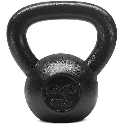 Yes4All 15 lb Kettlebell Weights for Workout - Solid Cast Iron Kettlebells²23D