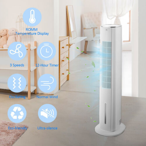 """42"""" Air Cooler Portable Tower Fan Timer LED Display Touch & Remote"""