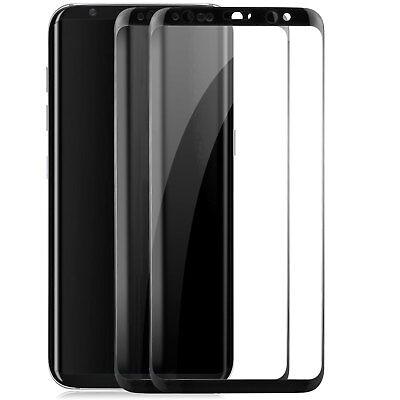 2x Curved Displayschutzglas für Samsung Galaxy S8 - 9H-Panzer Glasfolie Cover S