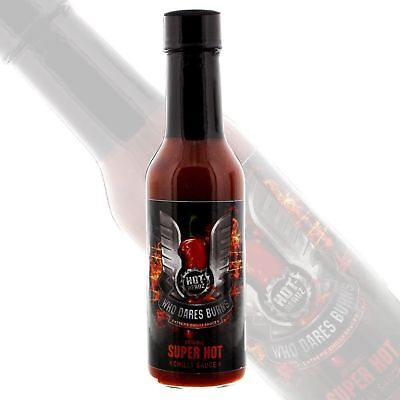 Hot-Headz Who Dares Burns - Super Hot Chilli Pepper Sauce *UK's #1 best