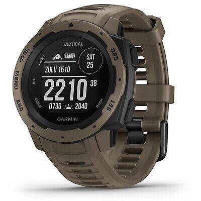 Garmin Watch Instinct Tactical GPS Fitness Location Heart Steps Coyote Tan 24224