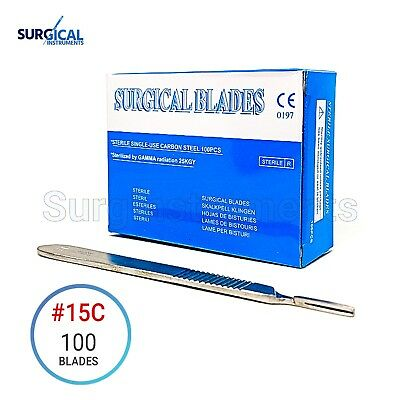 100 Micro Surgical Blades 15c Scalpel Eye-dentalophthalmic-plastic Surgery 3