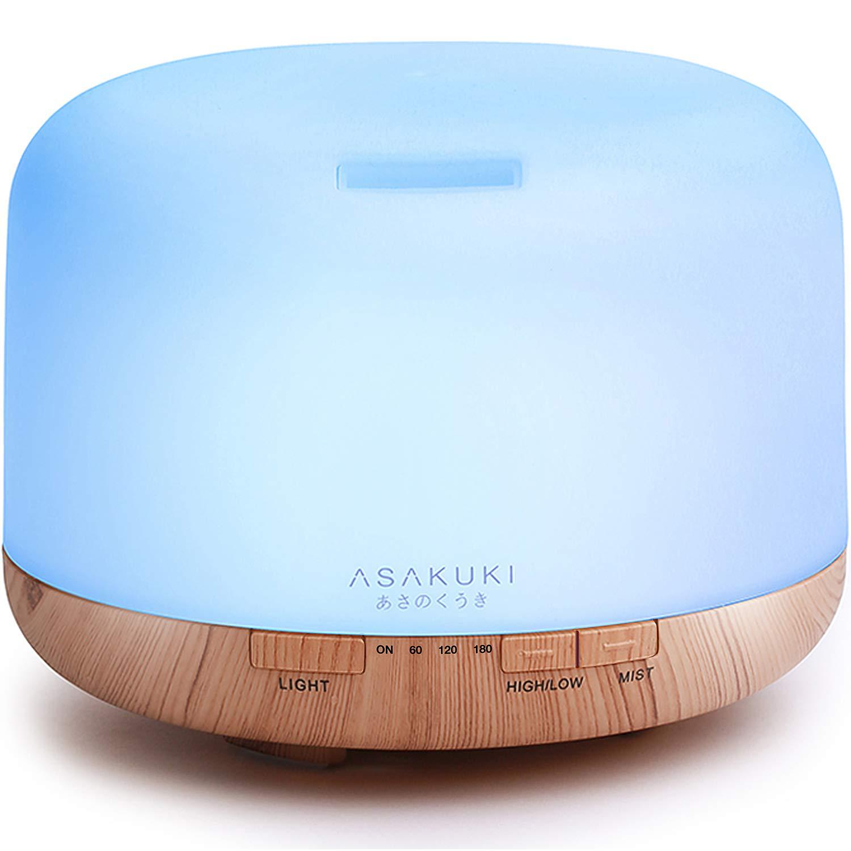ASAKUKI 500ml Premium, Essential Oil Diffuser, 5 In 1 Ultras
