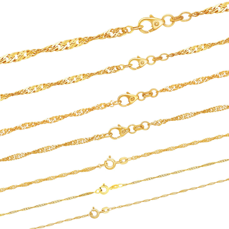 Massive edle Goldkette Singapurkette Halskette Collier Echt 333 585 Gold Juwelie