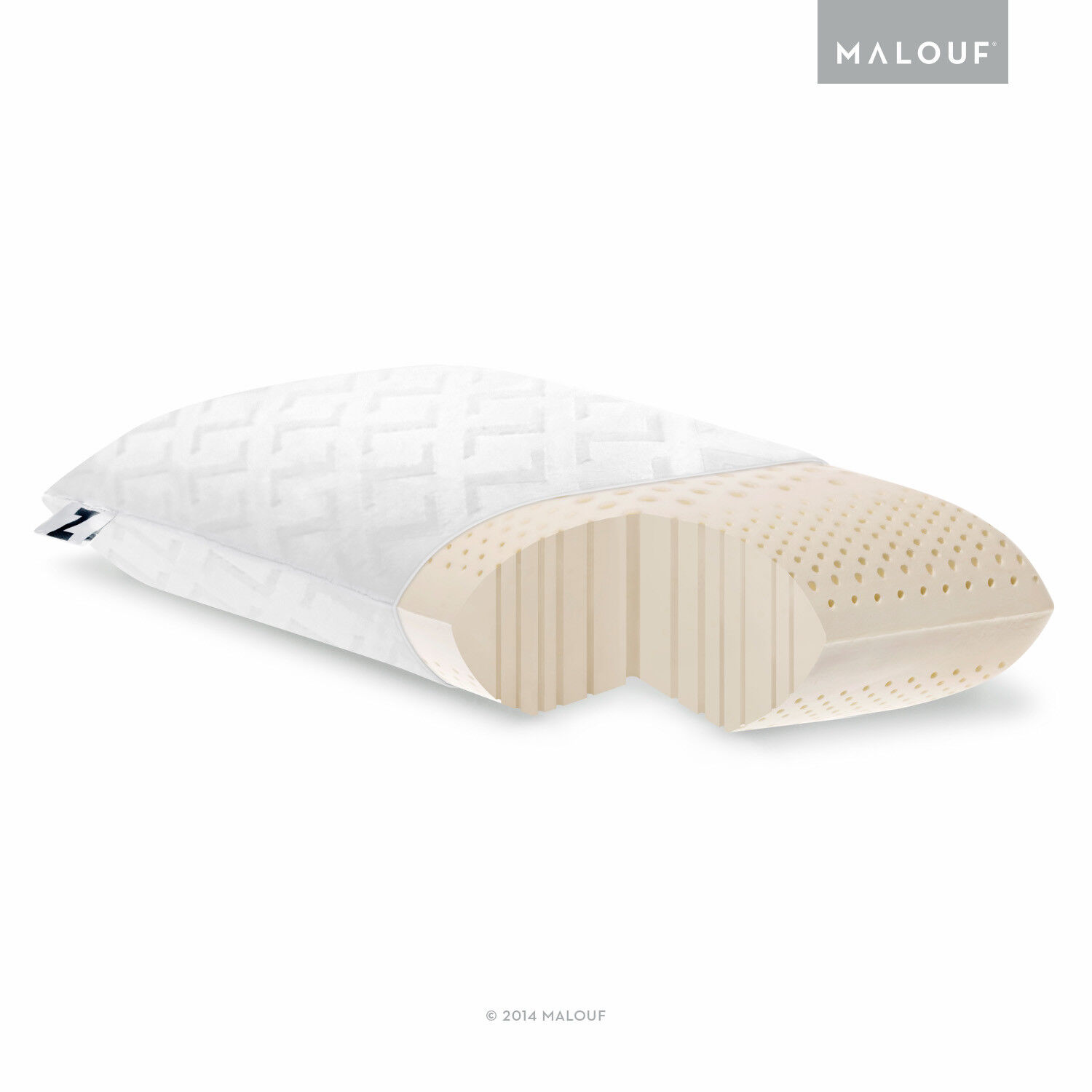pillow - Z Zoned Talalay Latex Pillow with 100% Cotton Cover - Return Damaged Package