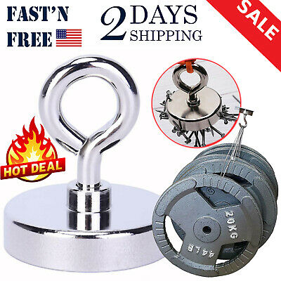 Magnet Fishing 260lbs Holding Power 2 Inches Neodymium Rare Earth Magnet Lifting