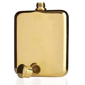 14K Gold Plated Viski Hip Flask Marrickville Marrickville Area Preview