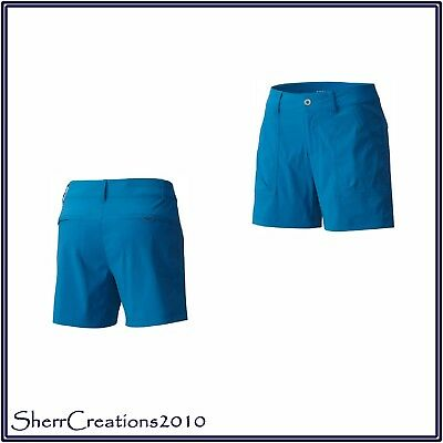 Columbia Stretch Shorts (New Columbia Women's Silver Ridge Stretch II Shorts in Jewel Blue Turquoise)