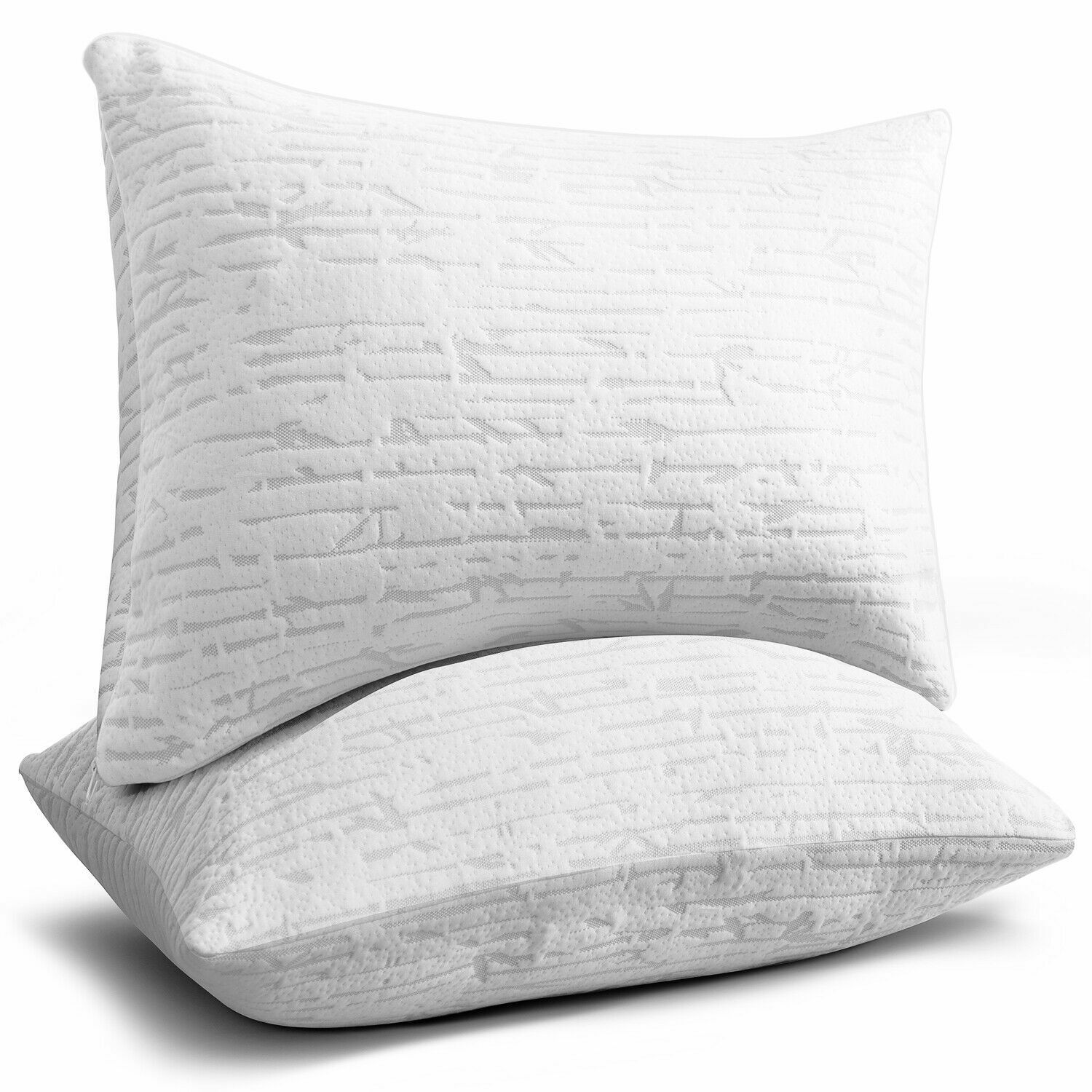 Memory Foam Luxurious Bamboo Pillow by Clara Clark King Queen Available