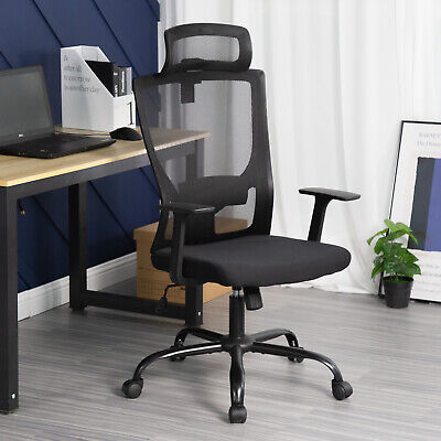 Ergonomic Office Chair Swivel Home Office Desk Chair With Head Pillow