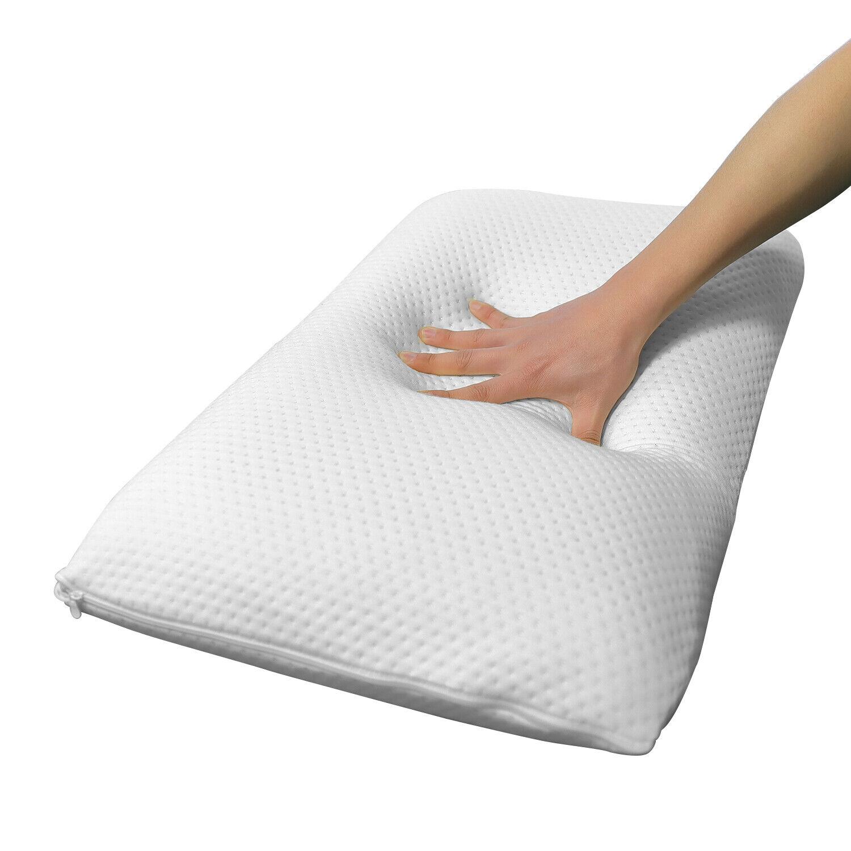 2 Pack Memory Foam Pillows for Neck Pain Sleep Comfort Cushi