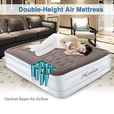Airbed Electric Inflatable Mattress With Built-In Air Pump Queen Raised Rest (Raised Airbed Mattress)