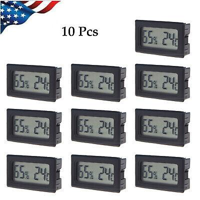 10 Pcs Digital Lcd Display Temperature Meter Thermometer Temp Sensor Indoor B0m7