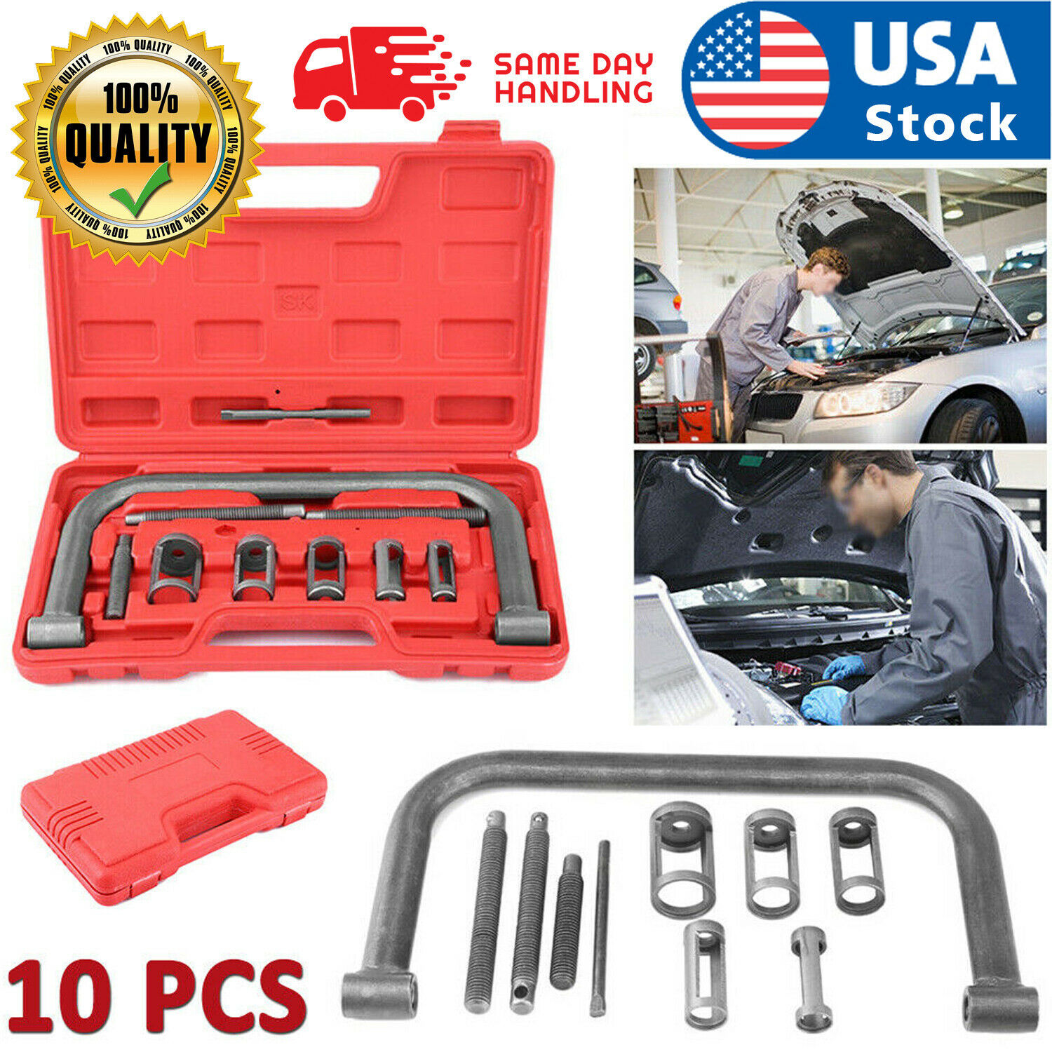5 Sizes Valve Spring Compressor Pusher Automotive Tool For Car Motorcycle Kit Automotive Tools & Supplies