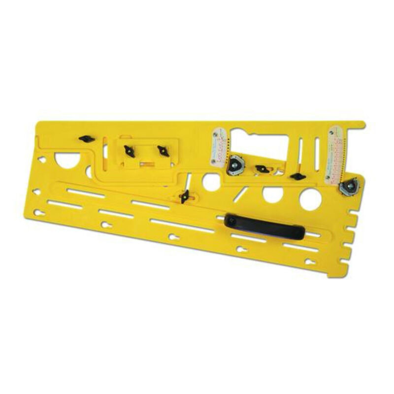 Microjig TJ-5000 Woodworking Microdial Table Saw Tapering Jig Accessory, Yellow