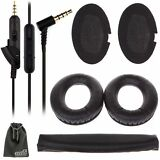 EEEKit for Bose QuietComfort QC15 QC2 Replacement Ear Pads Cushion+Audio Cable
