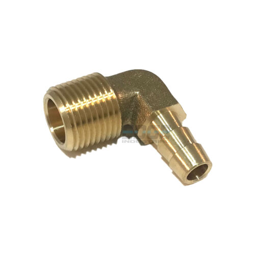 5/16 HOSE BARB ELBOW X 3/8 MALE NPT Brass Pipe Fitting Thread Gas Fuel Water Air