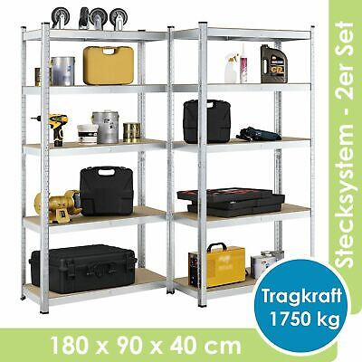 Steckregal Werkstattregal Lagerregal Kellerregal Schwerlastregal - B-Ware