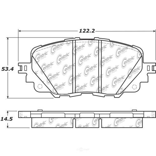 Posi-Quiet Metallic Disc Brake Pad w//Shims /& Hardware-Preferred fits 2004-2008 S