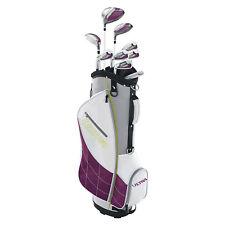 Wilson Ultra Womens Left Handed Super Long Golf Club Set with Cart Bag, Plum