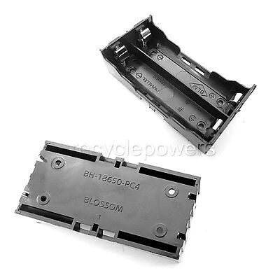 1 x 2*18650 Cell  Battery Holder Case Box Leads Pins PCB Board Mount Plastic