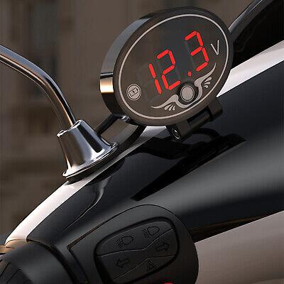 12v Motorcycle Voltmeter Voltage Meter Led Digital Display Panel Waterproof F4s0