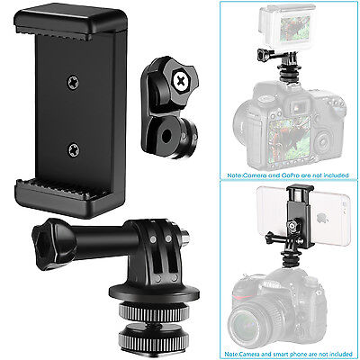 Neewer 3-in-1 Hot Shoe Mount Adapter Kit for Attaching Phone