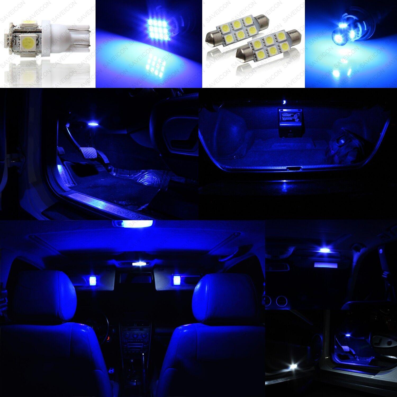 13 X Ultra Blue Led Interior Lights Package For 2004 2012 Lexus Es330 Es350 Picclick