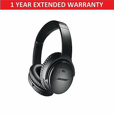 Bose QuietComfort 35 II Wireless Headphones - QC35 II Black + Extended Warranty