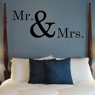 Mr And Mrs   Wall Vinyl Decal Sticker Mural Motivational Quote Love Marriage