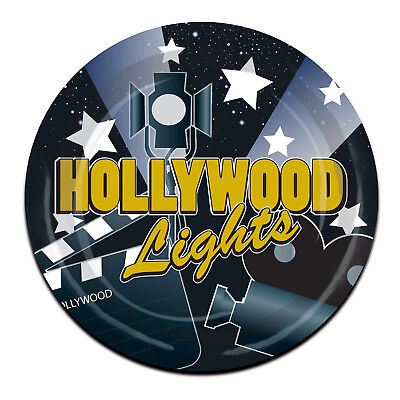 Paper Plate Awards (8 ct HOLLYWOOD LIGHTS Glamour Awards  9