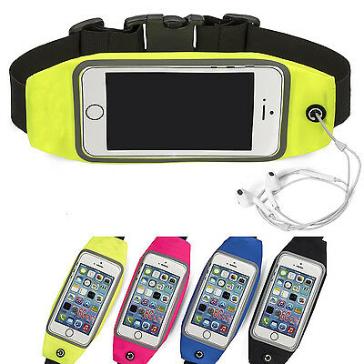 "Universal Mobile Phone Upto 4.7"" Running Jogging Phone Belt Bag Green Small"