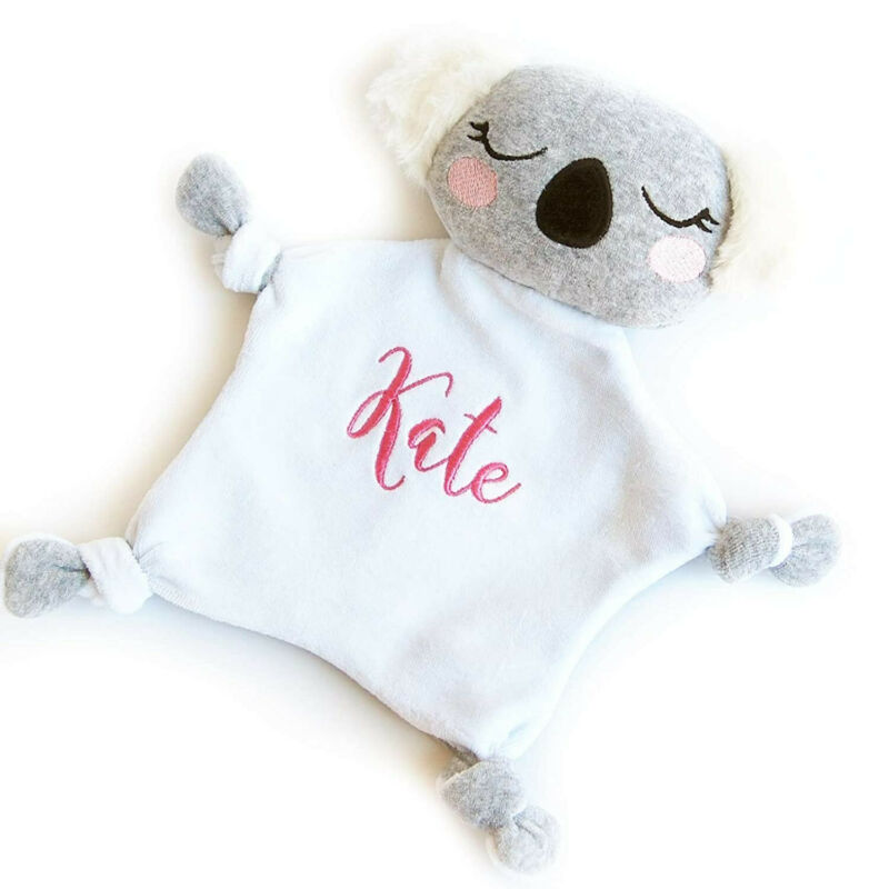 Security Blanket Embroidered Lovey Koala Personalized