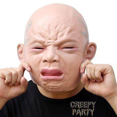 CreepyParty Neuheit Deluxe Halloween Kostüm Party Cry Baby Latex Kopfmaske Deluxe Latex Maske