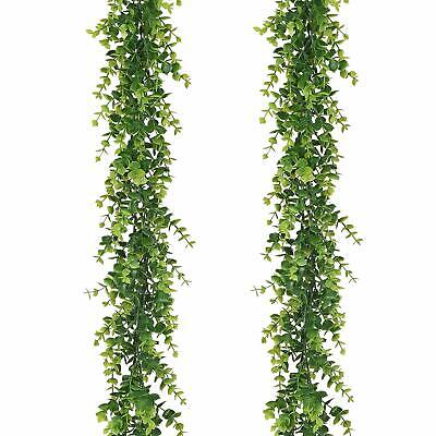 Artificial Vines Faux Eucalyptus Garland, 2 Pack Fake Greenery Hanging Plant ()
