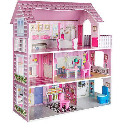Puppenhaus Spielhaus Möbel Puppen Puppenstube aus Holz mit Zubehör Ricokids