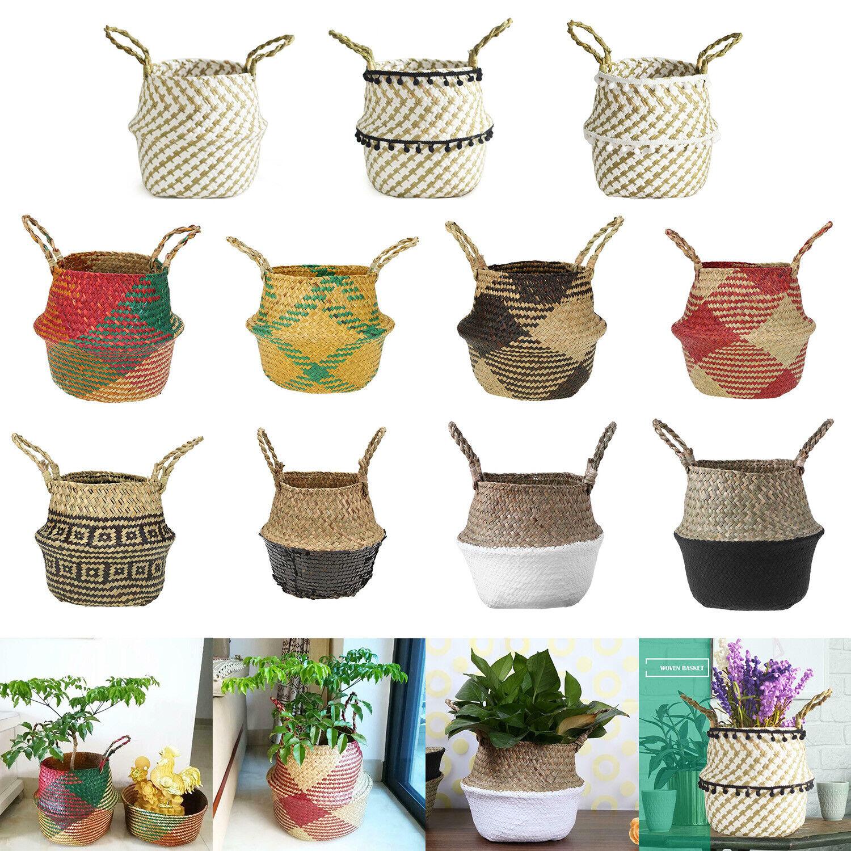 Seaweed Flower Basket Belly Storage Plant Pot Foldable Nurse