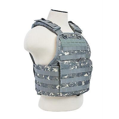 Military Tactical Vest - NcStar DIGITAL ACU Police Military Tactical MOLLE / PALs Adj Plate Carrier Vest