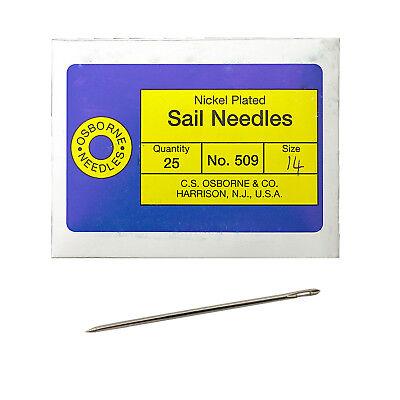 C S  Osborne Pack Of 25 Triangular Point Sail Needles  509  Size 14 Gauge