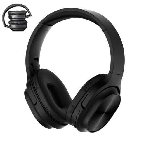 Wireless Bluetooth Headphones Mic TF Card Foldable Stereo He