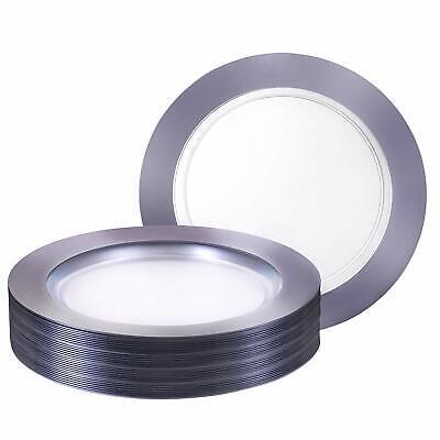 Heavy Plastic Dinner Plates (Premium Heavy weight 10.25